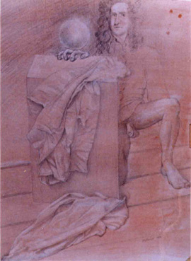 Pencil and chalk on paper, 23 x 33cm, 1994.